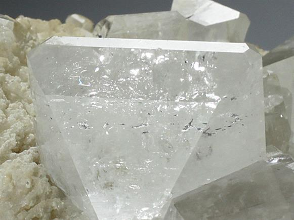 Topaz With Quartz on Albite