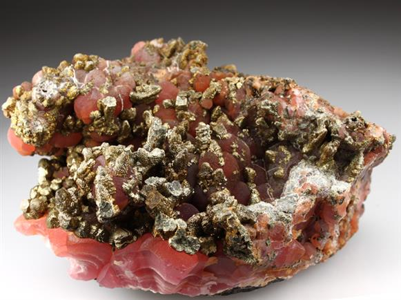 Rhodocrosite With Pyrite