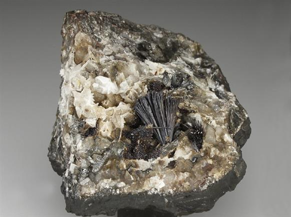 Pyrolusite With Baryte