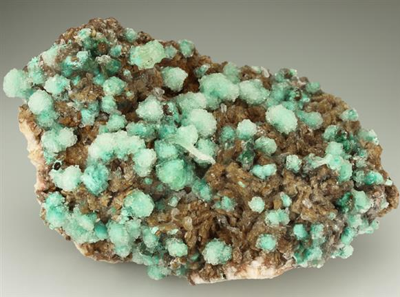 Gypsum on Malachite