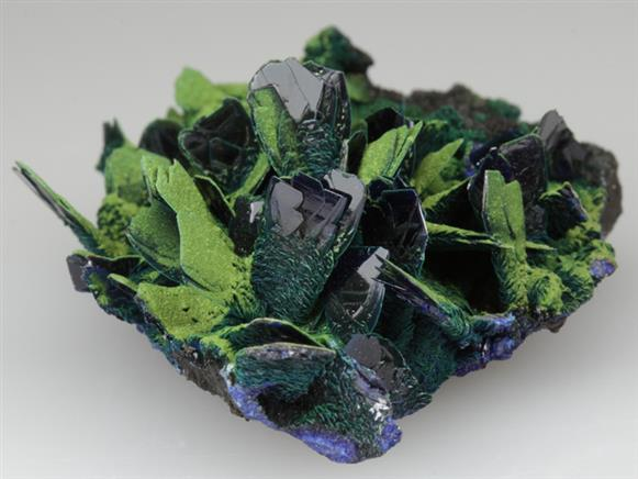 Azurite With Bayldonite-duftite ?