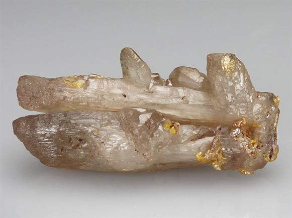 Wulfenite on Cerussite