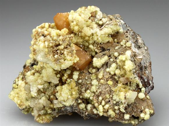 Willemite With Wulfenite