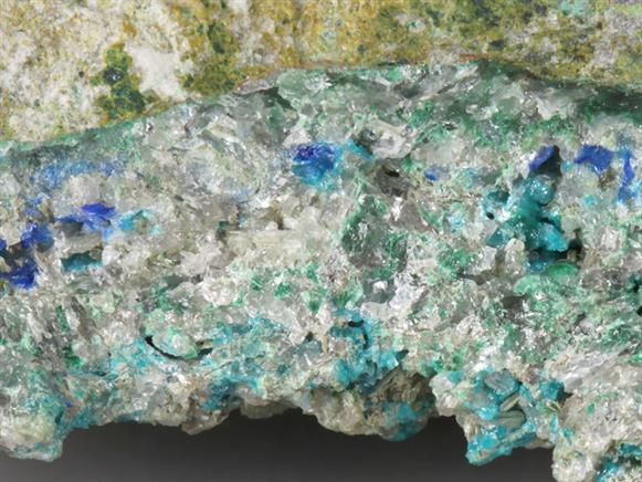 Caledonite With Linarite and Cerussite