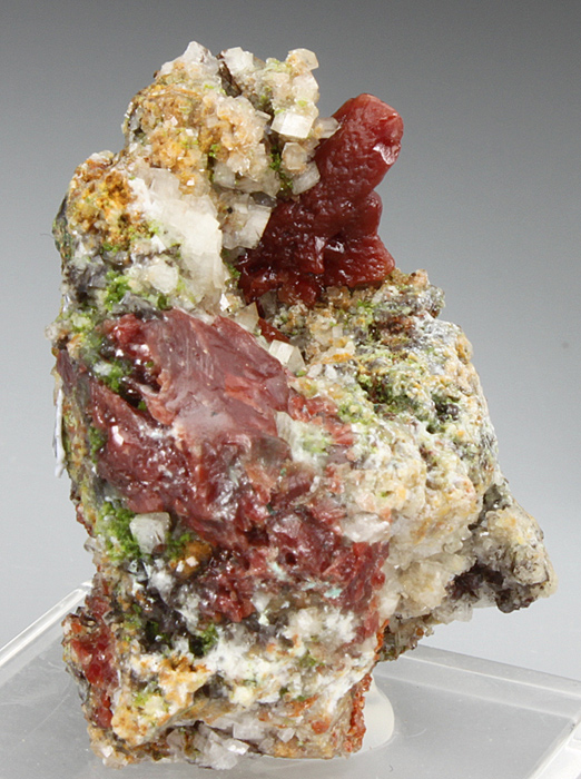 Cuprite Var Chalcotrichite Included In Cerussite