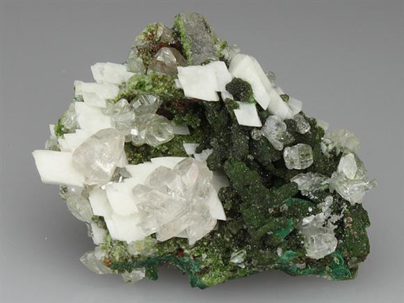 Cerussite and Calcite With Duftite
