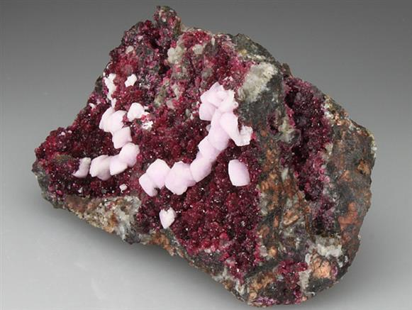 Roselite With Cobaltoan Calcite