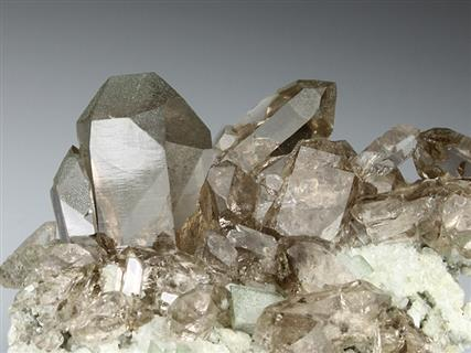 Quartz Var Smoky With Adularia