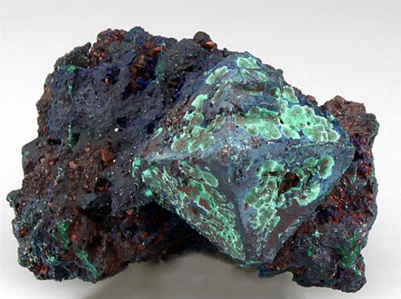 Azurite Pseudomorph After Cuprite