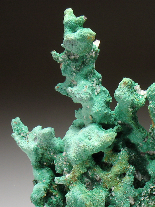Malachite on Native Copper With Quartz