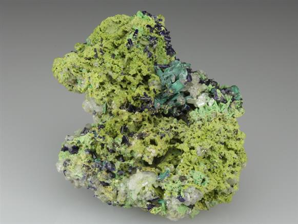 Gartrellite With Azurite and Malachite