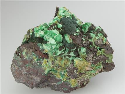 Cuprian Adamite With Malachite
