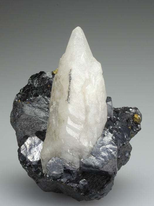 Calcite With Galena on Sphalerite