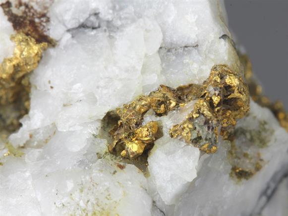 Native Gold In Quartz