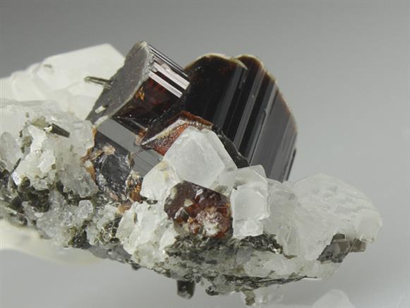 Vesuvianite With Calcite