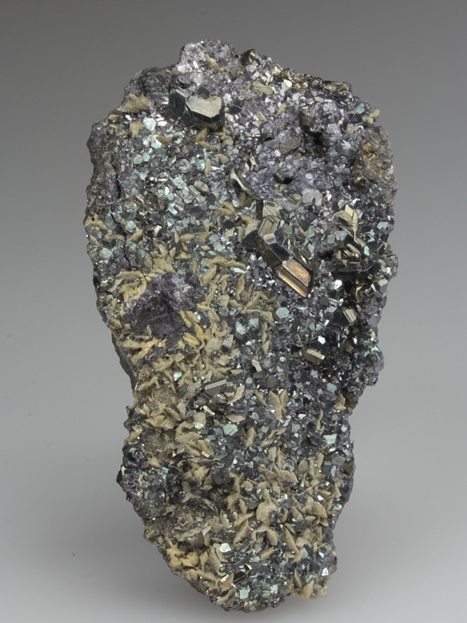 Bournonite on Siderite With Galena
