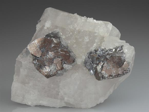 Galena on Calcite
