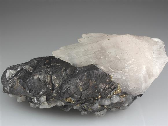 Calcite on Sphalerite