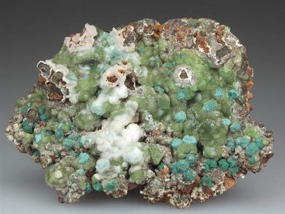 Cuprian Smithsonite With Rosasite