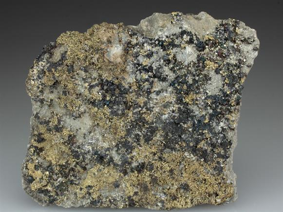 Native Gold on Sphalerite