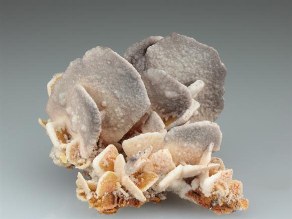 Wulfenite With Calcite