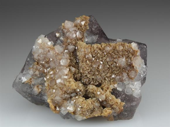 Fluorite With Quartz and Siderite