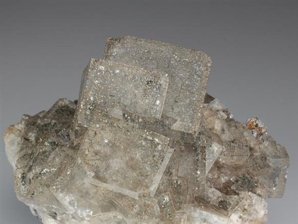 Fluorite With Marcasite and Pyrite Inclusions