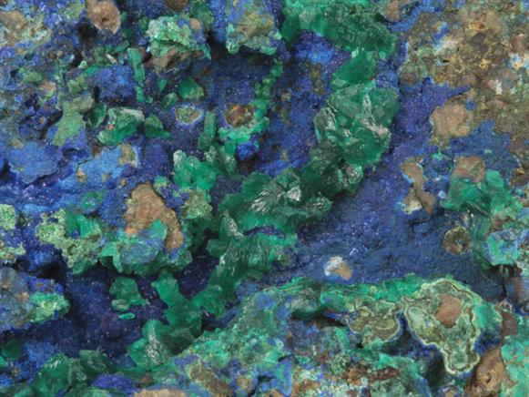 Euchroite on Azurite
