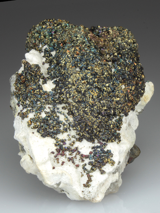 Chalcopyrite on Baryte