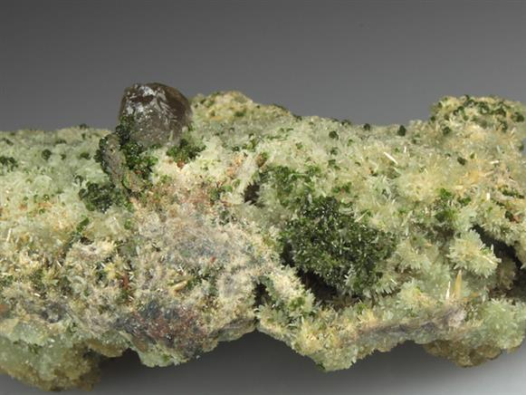 Mimetite on Smithsonite With Duftite and Cerussite