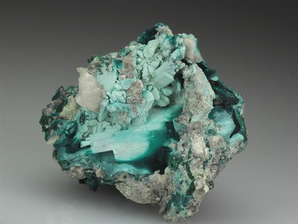 Rosasite Pseudomorph Malachite After Azurite.