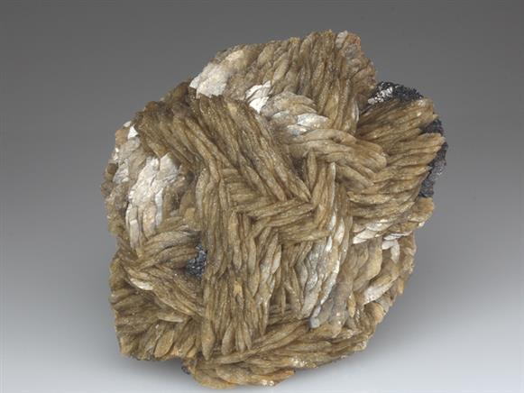 Siderite on Sphalerite