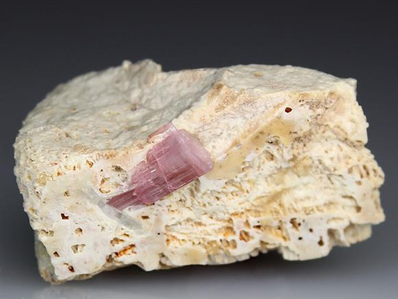 Tourmaline on Feldspar