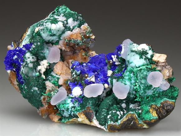 Smithsonite With Azurite and Malachite
