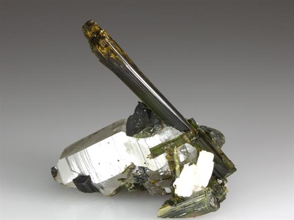 Tourmaline on Quartz