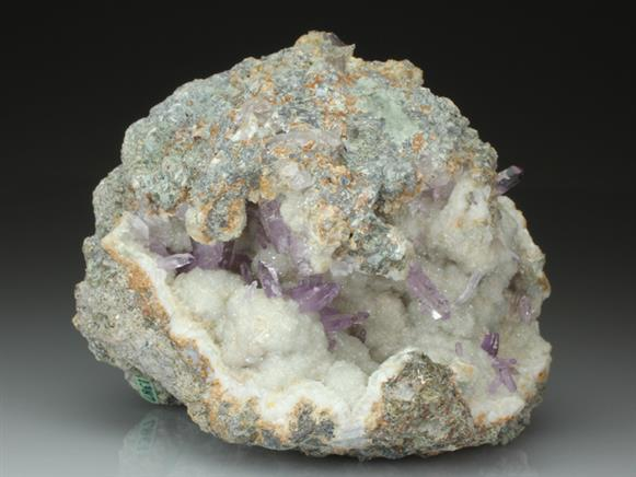 Quartz Var Amethyst on Quartz