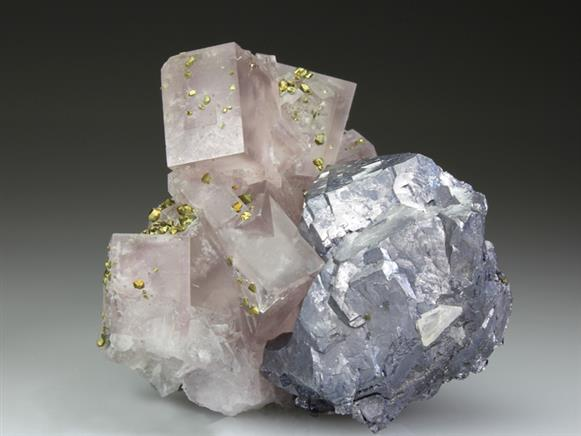 Fluorite With Chalcopyrite and Galena