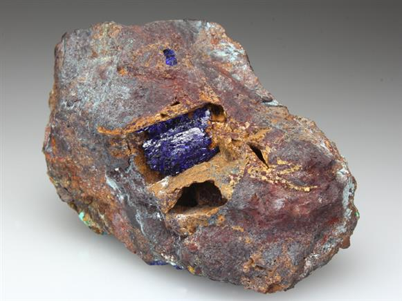 Azurite and Liroconite