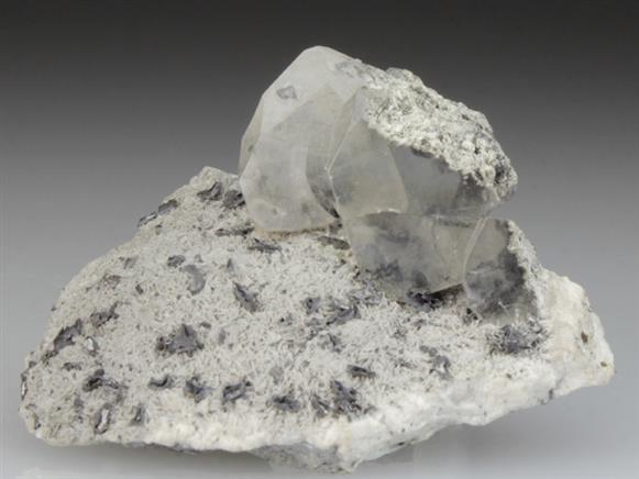 Phosgenite on Baryte