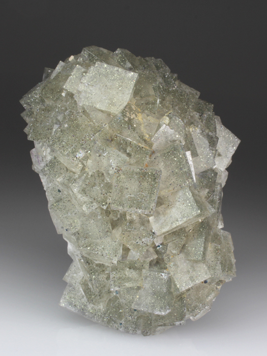 Fluorite Included By Chalcopyrite