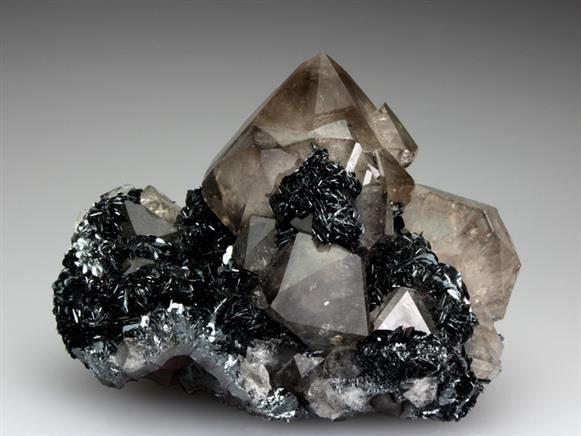 Hematite With Smoky Quartz