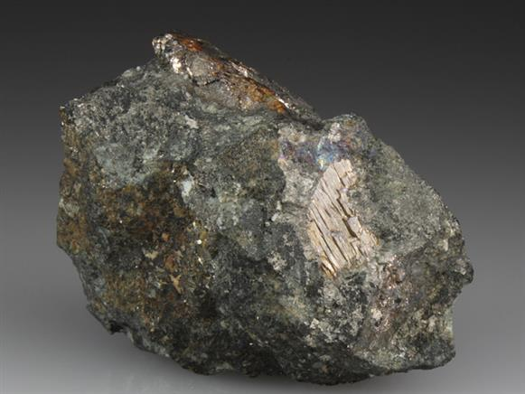 Native Bismuth In Chlorite With Arsenopyrite