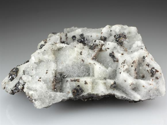 Quartz Epimorphs After Fluorite With Sphalerite