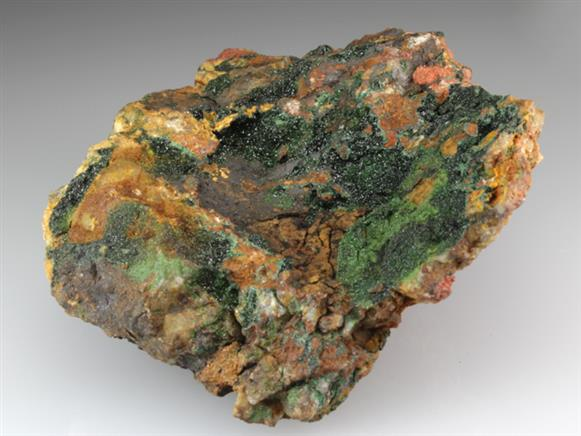 Libethenite on Gossan