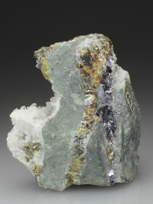 Quartz on Sphalerite