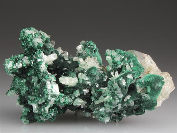 Cerussite on Malachite
