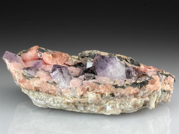 Quartz Var Amethyst With Rhodochrosite