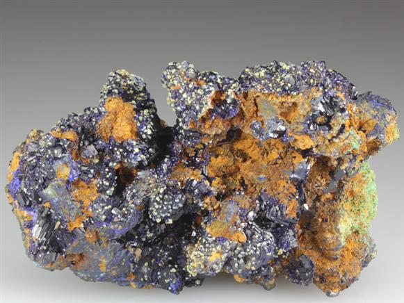 Miersite on Azurite
