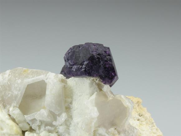 Fluorite on Quartz and Feldspar