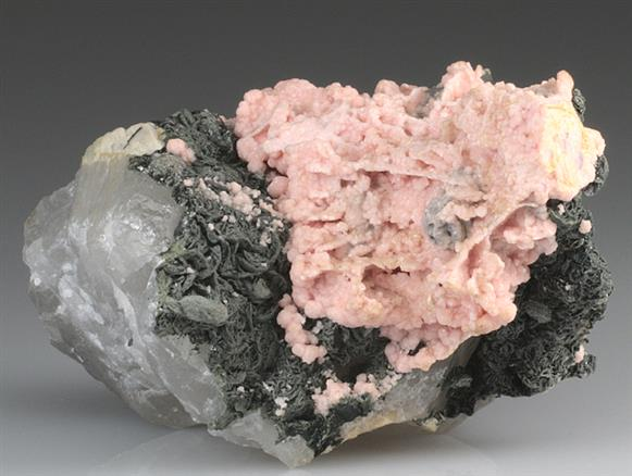 Rhodochrosite on Quartz
